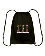 THREE CHRISTMAS UKULELE Drawstring Bag thumbnail