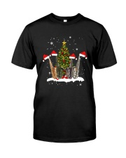 TREE CHRISTMAS SAXOPHONE Classic T-Shirt front