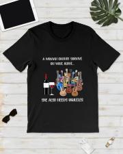 WOMAN WINE UKULELE Classic T-Shirt lifestyle-mens-crewneck-front-17