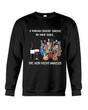 WOMAN WINE UKULELE Crewneck Sweatshirt thumbnail