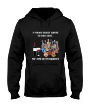 WOMAN WINE UKULELE Hooded Sweatshirt thumbnail