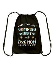 CAMPING LADY DOG MOM Drawstring Bag thumbnail