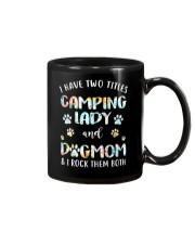 CAMPING LADY DOG MOM Mug thumbnail