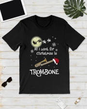 AII I WANT CHRISTMAS IS TROMBONE Classic T-Shirt lifestyle-mens-crewneck-front-17