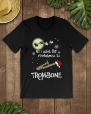 AII I WANT CHRISTMAS IS TROMBONE Classic T-Shirt lifestyle-mens-crewneck-front-18