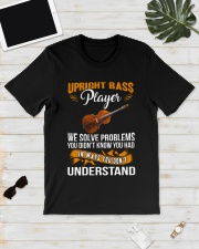 UPRIGHT BASS PLAYER SOLVE PROBLEMS Classic T-Shirt lifestyle-mens-crewneck-front-17