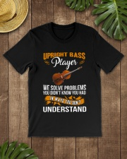 UPRIGHT BASS PLAYER SOLVE PROBLEMS Classic T-Shirt lifestyle-mens-crewneck-front-18