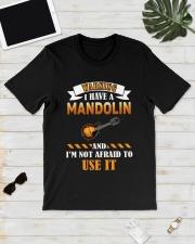 WARNING I HAVE A MANDOLIN Classic T-Shirt lifestyle-mens-crewneck-front-17