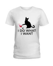 WINE CAT DO WANT Ladies T-Shirt thumbnail
