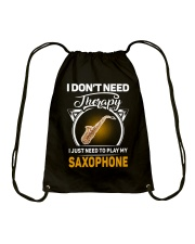 MY THERAPY SAXOPHONE Drawstring Bag thumbnail