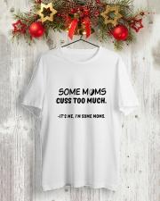 HOCKEY MOMS CUSS Classic T-Shirt lifestyle-holiday-crewneck-front-2