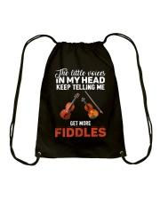 TELLING ME FIDDLES Drawstring Bag thumbnail