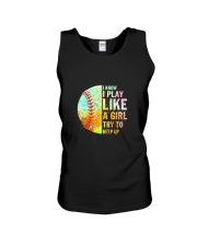 GIRL TRY SOFTBALL Unisex Tank thumbnail