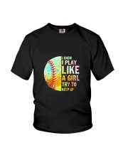 GIRL TRY SOFTBALL Youth T-Shirt thumbnail