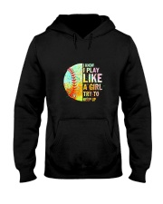 GIRL TRY SOFTBALL Hooded Sweatshirt thumbnail