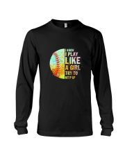 GIRL TRY SOFTBALL Long Sleeve Tee thumbnail