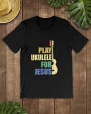 I PLAY FOR JESUS UKULELE Classic T-Shirt lifestyle-mens-crewneck-front-18