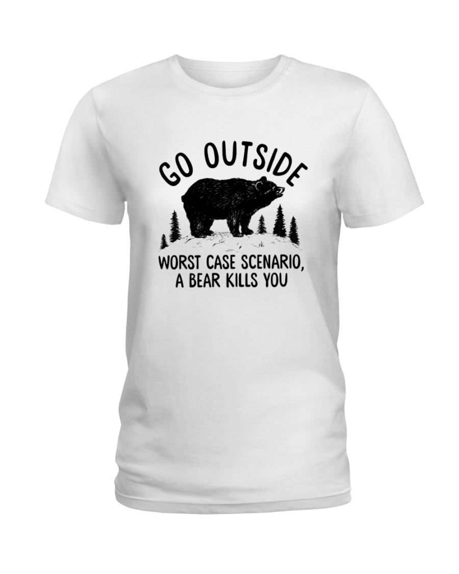 CAMPING GO OUTSIDE Ladies T-Shirt