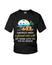 CAMPING NEED FRIEND Youth T-Shirt tile
