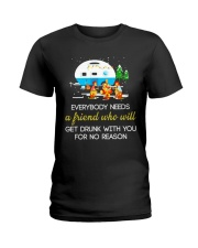 CAMPING NEED FRIEND Ladies T-Shirt tile