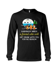 CAMPING NEED FRIEND Long Sleeve Tee tile