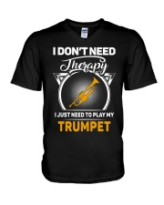 TRUMPET THERAPY V-Neck T-Shirt tile