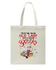 OLD LADY BOOK Tote Bag thumbnail