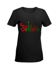 BIG FOOT BELIEVE Ladies T-Shirt women-premium-crewneck-shirt-front
