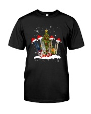 TREE CHRISTMAS TRUMPET Classic T-Shirt front