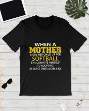 MOTHER SOFTBALL Classic T-Shirt lifestyle-mens-crewneck-front-17