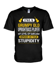 A GRUMPY OLD UPRIGHT BASS V-Neck T-Shirt thumbnail