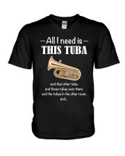ALL I NEED TUBA V-Neck T-Shirt thumbnail