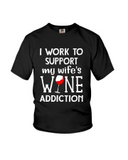 WIFE WINE ADDITION Youth T-Shirt thumbnail