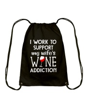 WIFE WINE ADDITION Drawstring Bag thumbnail