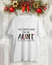 AUNT COOL AND FAVORITE Classic T-Shirt lifestyle-holiday-crewneck-front-2