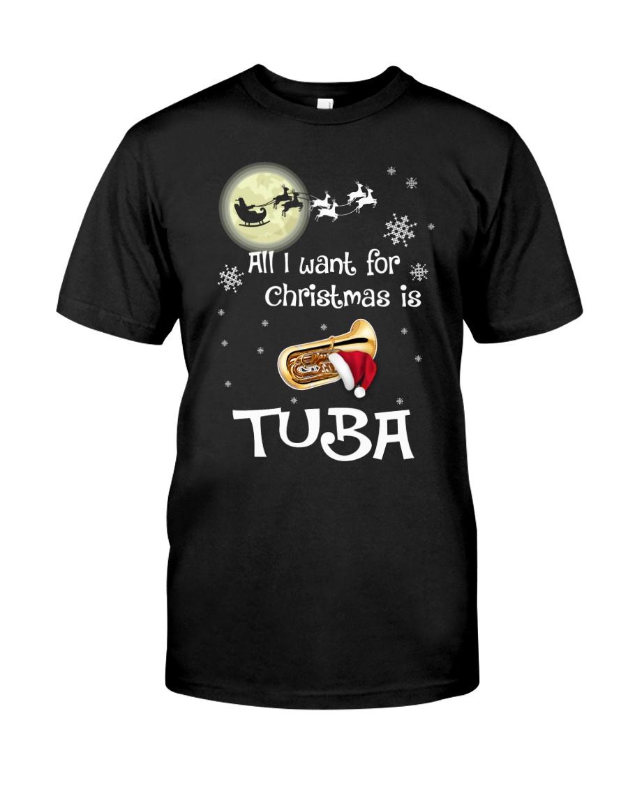 AII I WANT CHRISTMAS IS TUBA Classic T-Shirt