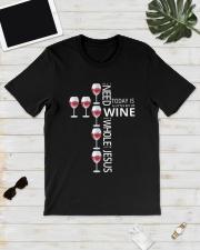 WINE JS Classic T-Shirt lifestyle-mens-crewneck-front-17