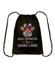SEWING AND DOGS Drawstring Bag thumbnail