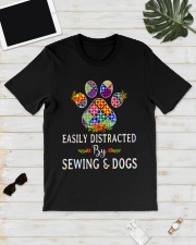 SEWING AND DOGS Classic T-Shirt lifestyle-mens-crewneck-front-17