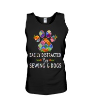 SEWING AND DOGS Unisex Tank thumbnail
