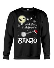 AII I WANT CHRISTMAS IS BANJO Crewneck Sweatshirt thumbnail