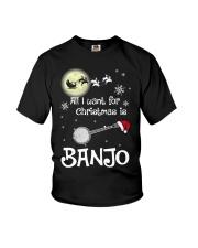AII I WANT CHRISTMAS IS BANJO Youth T-Shirt thumbnail