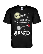 AII I WANT CHRISTMAS IS BANJO V-Neck T-Shirt thumbnail