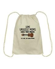 UKULELE MOMS CUSS Drawstring Bag thumbnail