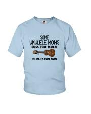 UKULELE MOMS CUSS Youth T-Shirt thumbnail