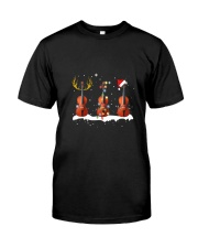 THREE CHRISTMAS FIDDLE Classic T-Shirt front