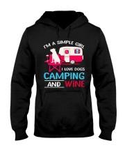 CAMPING DOG WINE Hooded Sweatshirt thumbnail