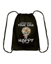 HIPPIE SOUL HAPPY Drawstring Bag thumbnail