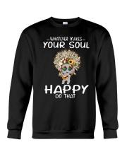 HIPPIE SOUL HAPPY Crewneck Sweatshirt thumbnail