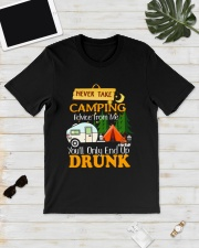 TAKE CAMPING DRUNK Classic T-Shirt lifestyle-mens-crewneck-front-17